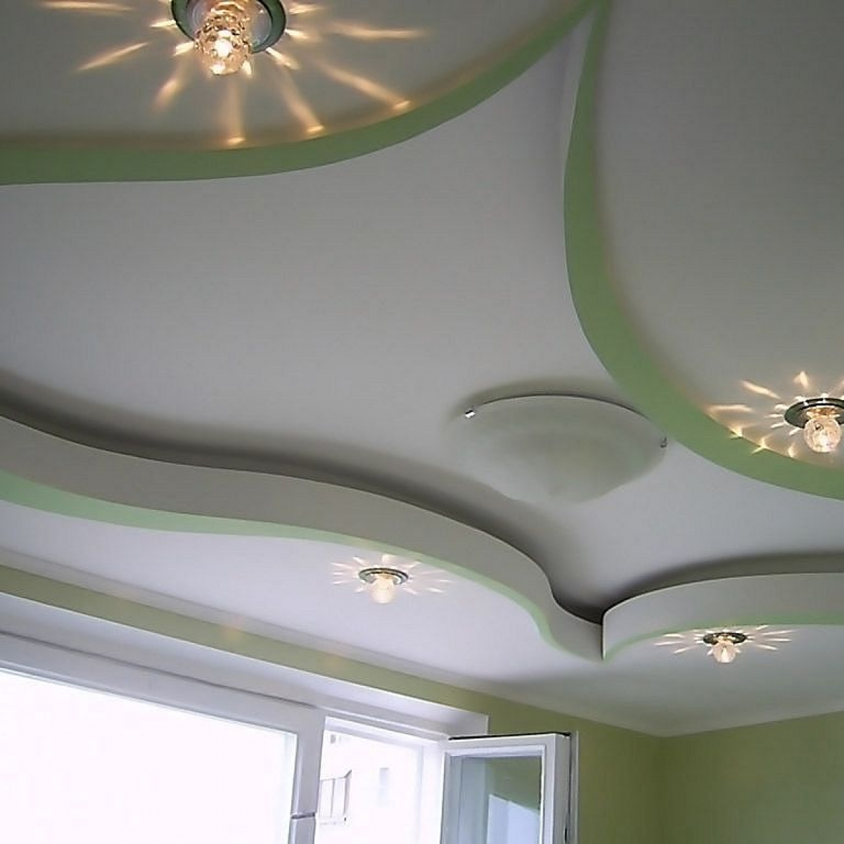 Підвісні стелі гіпсокартон фото спальня