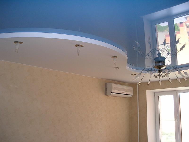 """Двухуровневый натяжной потолок или как создать эффект """"поднятия потолка"""""""