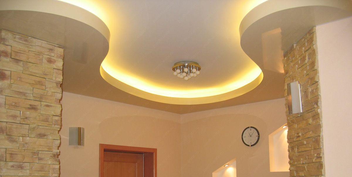 Эффектный потолок из гипсокартона с подсветкой: виды конструкций и особенности
