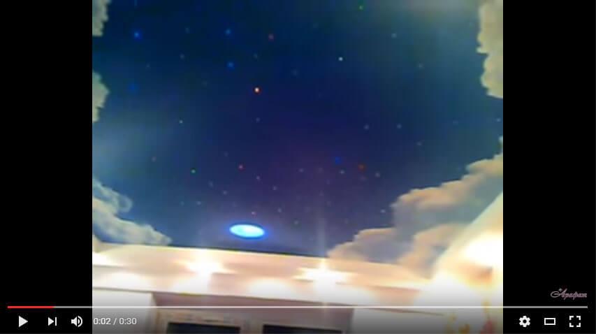 Нереально красивое небо! Натяжной потолок в детской