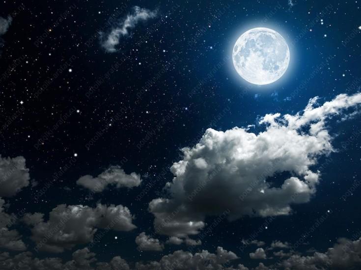 Закат, луна