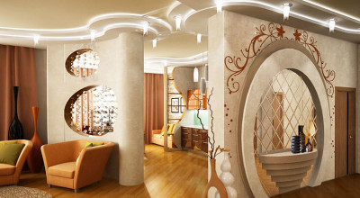 Перегородки, арки из гипсокартона – дизайн и монтаж